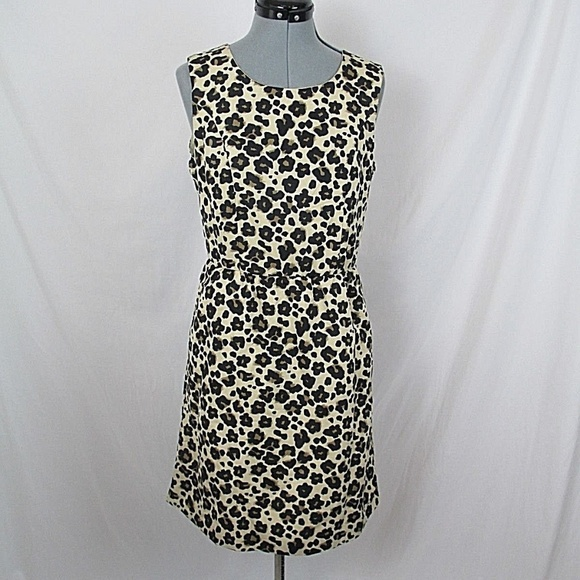 Banana Republic Dresses & Skirts - Banana Republic Dress Leopard Sleeveless Midi 8